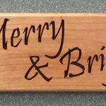 Merry Christmas Sign CNC