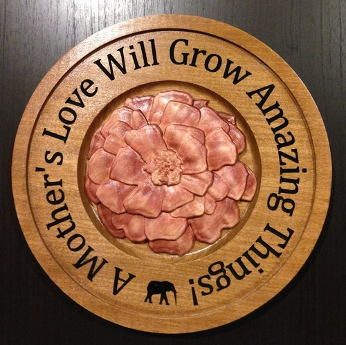 Wood Animal Plaque CNC