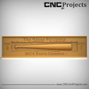Baseball Bat Plaque CNC