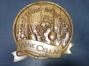 Wine Cellar Wood Plaque CNC