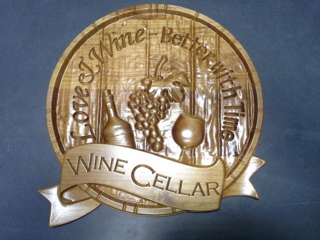 Wine Cellar Wood Plaque CNC