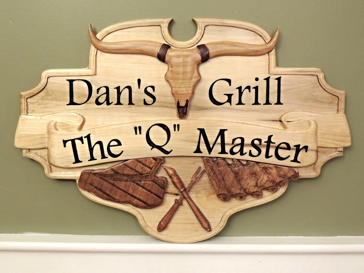 Dan's Grill CNC Wood Example