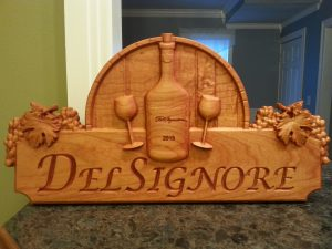 Wine Sign DelSignore CNC