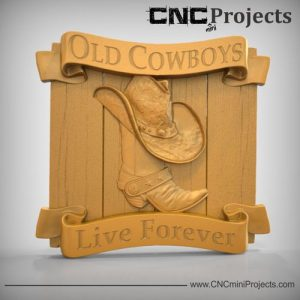 Old Cowboys Plaque CNC
