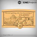 Classic Car Mountains CNC Model