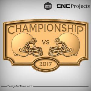 Championship American Football CNC Model
