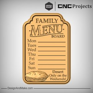 Family Menu CNC Model