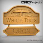 Whale Tours Sign CNC