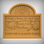 Flower Plaque Sign CNC