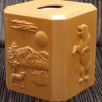 Wood CNC Engraved Tissue Box
