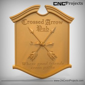 Pub Crossed Arrows Sign CNC