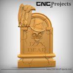 Dead Skull Vulture Sign CNC
