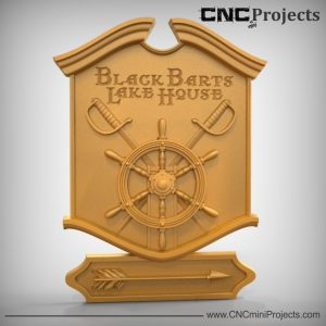 Lake House Pirate Sign CNC