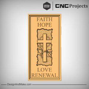 Faith Jesus Cross Plaque CNC