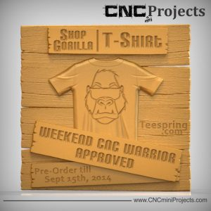Gorilla Tshrt Sign CNC