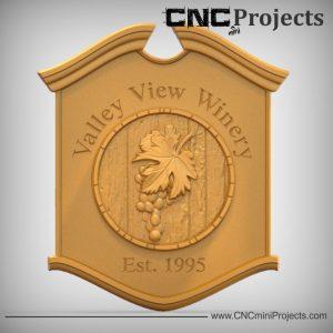 Wine Plaque Sign CNC
