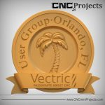 Holiday Palm Tree Sign CNC