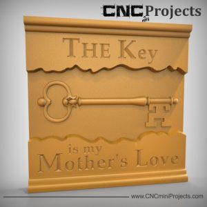 Key Mothers Love Sign CNC