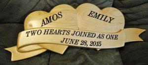 2 Hearts Sign CNC