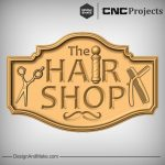 Hair Shop Sign CNC