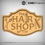 Hair Shop Sign CNC