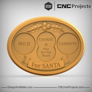 Santa Milk Cookie Carrot Dish CNC