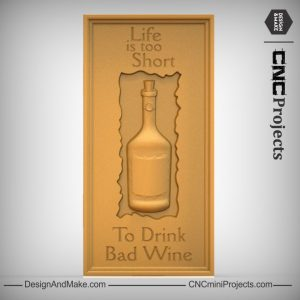 Wine Bottle Plaque CNC