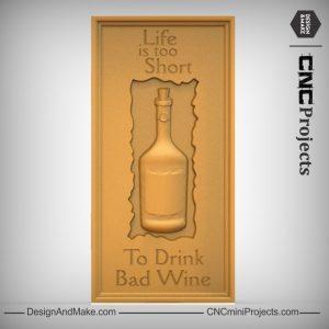 Wine Bottle Plaque CNC