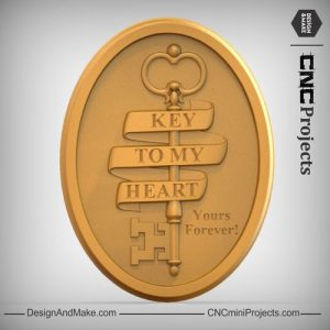 Key Ribbon Plaque CNC
