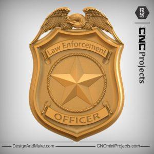 Police Badge CNC