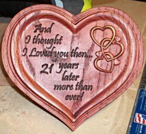 Wooden Heart CNC