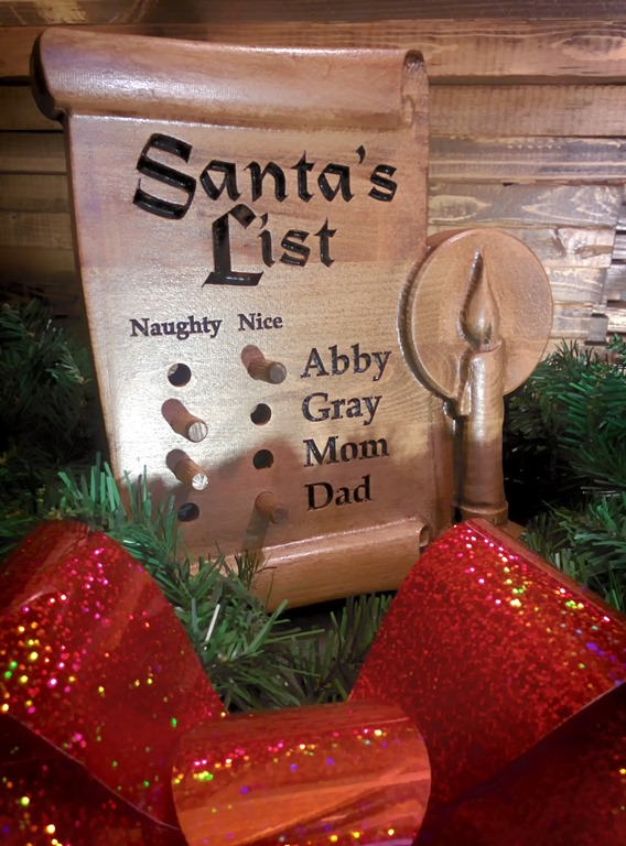 Santa's List - Peg Board