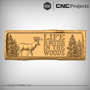 Dear Wildlife Scene CNC