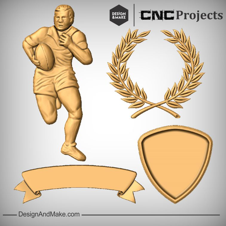 Rugby Player Plaque Sign CNC