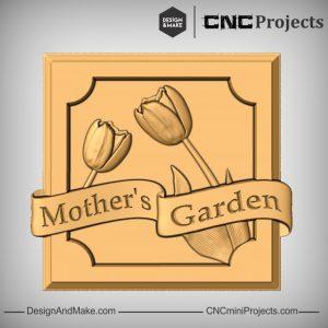 Mum Garden Plaque Gift CNC