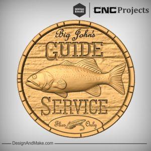 Fishing Sign CNC