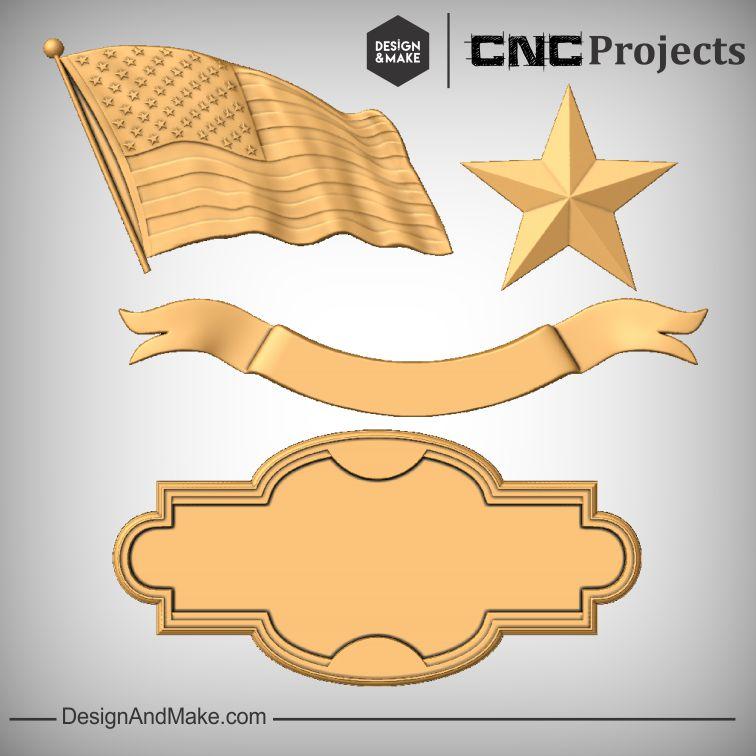American Flag Sign CNC
