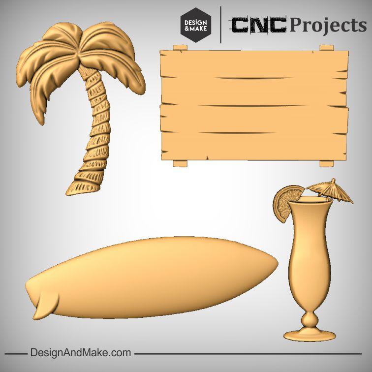 Tiki Bar Surf Board CNC Sign