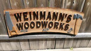 Weinmann's Woodworks - Shop Sign