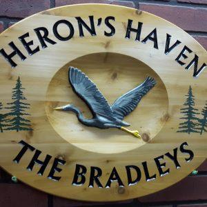 Heron Sign