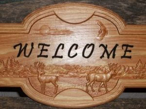 Welcome Sign CNC
