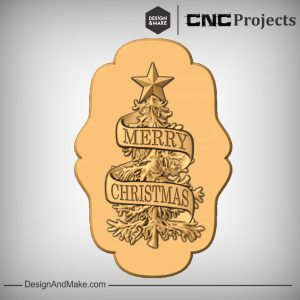 Merry Christmas Sign CNC