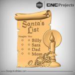 Santas List CNC Sign