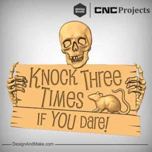Skull Bones Rat CNC Models