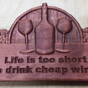 Wine Sign CNC Wood
