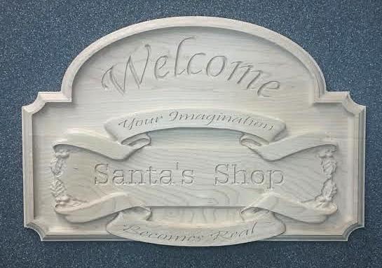 Santas Shop Sign CNC Wood Example