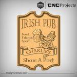 Irish Drinking Beer Sign CNC