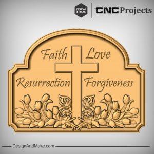 Christ Sign CNC Models