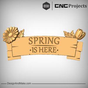 Flowers Sign CNC