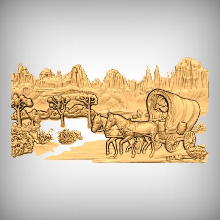 Western Horse Cart CNC Models